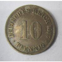 Германия. 10 пфеннигов 1915 D. 1-78