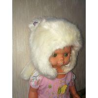 Шикарная меховая шапочка H&M, 5-7 лет