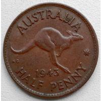Австралия 1/2 пенни 1943 2