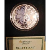 Ниуэ 1 доллар, 2011 Бабочки - Голубянка арион(maculinea arion), (925 пр).