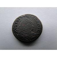 """1 грош 1755 г. Август III """"Толстый"""""""