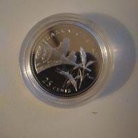 25 C 1992 пруф 0.925 серебро 125лет конфедерации SASKATCHEWAN