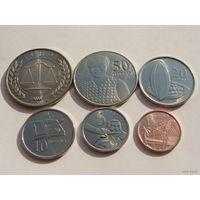 Гана. набор из 6 монет 2007 год (1+5+10+20+50 pesewas + 1 седи) Редкий год набора!!!