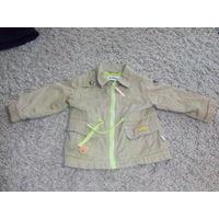 Куртка детская бежевая лёгкая