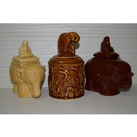 "Банка для чая в форме статуэтки. ""Слон"". Цена за 3 шт."