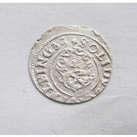 Шиллинг 1633 Эльблёнг Густав Адольф Прибалтийские владения Швеции