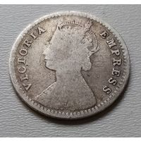 Индия 2 анны 1881 г. (2) без точки