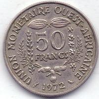 Западная Африка, 50 франков 1972 года.