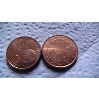 Эстония 1 евроцент 2012г. распродажа