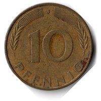 Германия. 10 пфеннигов. 1973 J