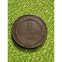 Германия 1 Крейцер 1809 г ( Баден )