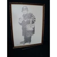 Гравюра-оттиск под стеклом, Франция