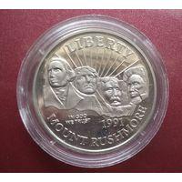 США 1/2 доллара 1991S. Мемориал Рашмор