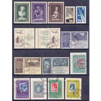 Польша 100 гашеных марок (только полные серии) 1956-1968 гг