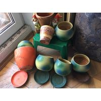Горшки цветочные горшки для цветов глиняные 8 шт все вместе
