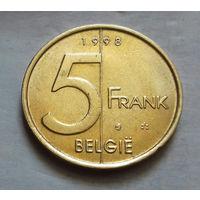 5 франков, Бельгия 1998 г.