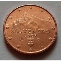 2 евроцента, Словакия 2009 г., AU