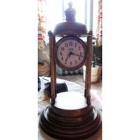 Каминные часы  павильон башенка позолота 19 век