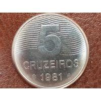 5 крузейро 1981 Бразилия