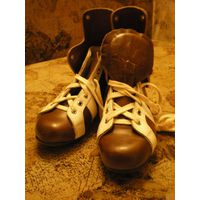 Ботинки для коньков детские кожаные новые р. 21