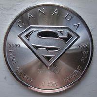 Канада, 5 доларов, 2016, Супермэн, серебро
