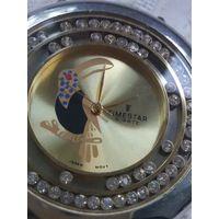 Часы винтажные женские с кристаллами ТУКАН