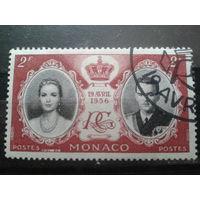 Монако 1956 Свадьба князя Ренье 3  2фр