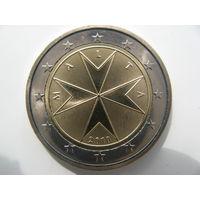 Мальта 2 евро 2010 г. UNC!