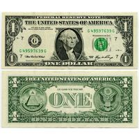 США. 1 доллар (образца 2006 года, G, Иллинойс, P523)