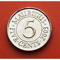 118-09 Маврикий, 5 центов 2003 г. Единственное предложение монеты данного года на АУ