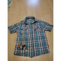 Рубашка детская Дисней на 4-6 лет с коротким рукавом