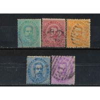 Италия Кор 1879 Умберто I Стандарт #37-40,42 2