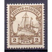 Германия Восточная Африка 2 песо 0Wz 1901 г