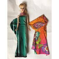 Кукла Барби Barbie и два интересных платья