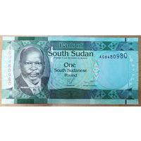 1 фунт 2011 года - Южный Судан - UNC