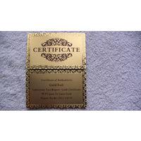 Золотой сертификат, для золотых банкнот. распродажа