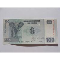 Конго. 100 франков 2007 год