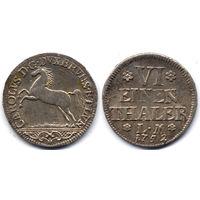 1/6 талера 1752 LM, Германия, Брауншвейг-Вольфенбюттель