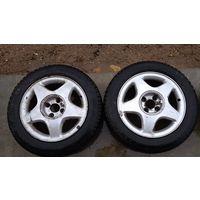 Продам 4 колеса от Astra G ( астра г ) 185/60/15, 4 отв.остаток 3-4 мм,на одном колесе булка. 150р.