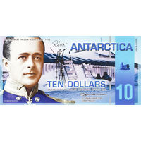 Антарктика 10 долларов 2011 год UNC  распродажа