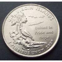 США. 25 центов 2009. Virgin islands /P/