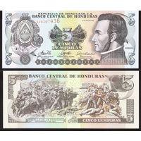 ГОНДУРАС 5  ЛЕМПИРА  2006  год  UNC