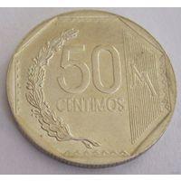 Перу 50 сентимов 2013 год