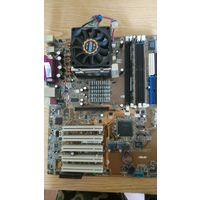 Материнская плата ASUS P4P800-F. Celeron 335, 512 память - на ремонт или на запчасти