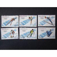 Зимние Олимпийские игры в Альбертвилле 1989 (Гвинея-Бисау) 6 марок