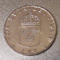 Швеция, 1 крона, 1979 год, медь-никель