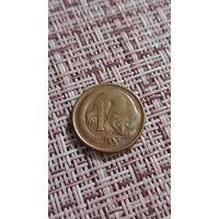 Австралия 1 цент 1969 г ( молодой возраст королевы )