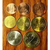 Беларусь, полный набор из 8 монет (1,2,5,10,20,50 коп., 1,2 руб.) 2009 год (введен в 2016 году)