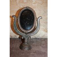 Настольное зеркало, рамка под настольное зеркало, времён СССР, силумин, высота 26,5 см.