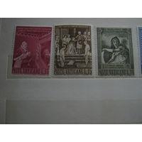 Марки - культура, искусство, живопись - Ватикан - религия, известные люди - 5 марок